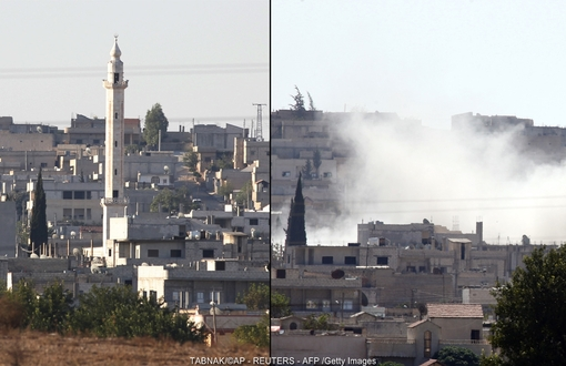 Explosion of a mosque in Ain al-Arab